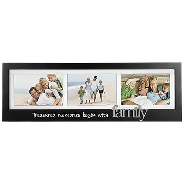 Malden Family 3-Opening Memory Stick Picture Frame