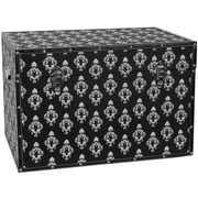 Oriental Furniture Damask Storage Trunk; Black