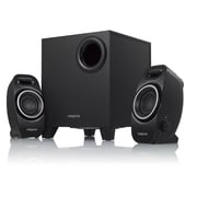 Creative® Labs A250 9 W 2.1 Speaker System, Black