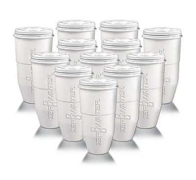 Zero Water® ZR012 Water Filtration Pitcher, White, 12 Pack