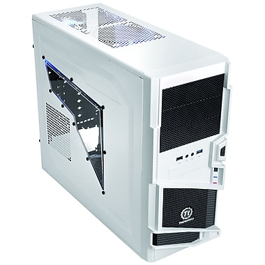 Thermaltake® Commander Ms-I Snow Edition Atx Mid Tower Computer Case, Black/White