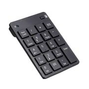 Solidtek® KP-758-RF 19 Key 2.4G USB RF Numeric Wireless Keypad, Black