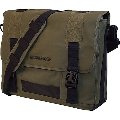 Mobile Edge Eco Friendly Canvas Messenger Bag For Laptops Up to 17.3