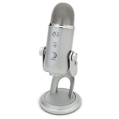 Blue Microphones Yeti Four Pattern USB Microphone, Silver