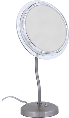Zadro™ Surround Light™ 7x S-Neck Vanity Mirror, Satin Nickel