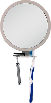 Zadro Z'Fogless 5x - 1x Adjustable Magnification Mirror With Dual Accessory Holder, White 1001775