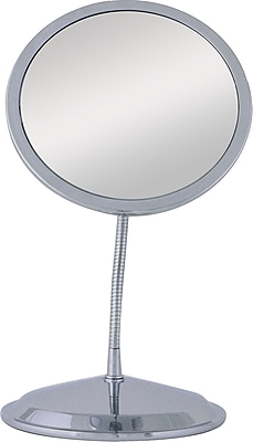 Zadro™ Double Vision™ 10x/5x Gooseneck Wall/Vanity Mirror, Chrome