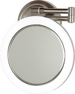 Zadro™ Surround Light™ 10x/1x Plug In Wall Mirror, Satin Nickel