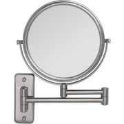 Zadro™ 5x/1x Non Lighted Swivel Dual Arm Wall Mirror, Satin Nickel