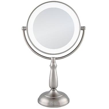Zadro™ Next Generation™ 12x/1x Ultra Bright LED Lighted Vanity Mirror, Satin Nickel
