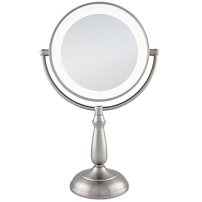 Zadro™ Next Generation™ 10x/1x Ultra Bright LED Lighted Vanity Mirror, Satin Nickel