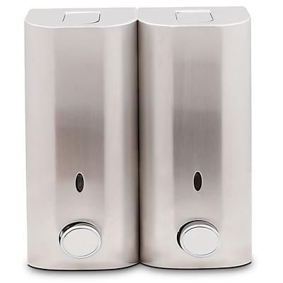 Zadro™ Stainless Steel Double Shower Dispenser, Satin Nickel