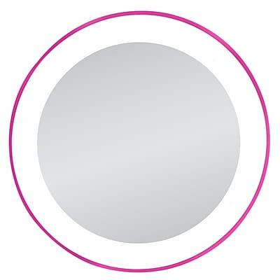 Zadro Next Generation 10x LED Lighted Spot Mirror, Pink 1001778