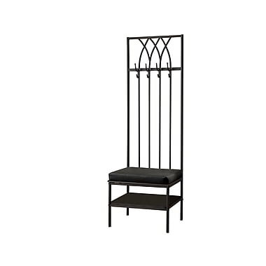 Monarch® Hammered Metal Hall Entry Bench, Black