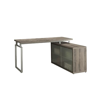 Monarch Specialties Inc. Corner Desk, Dark Taupe (I 7335)