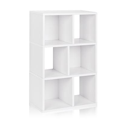 Way Basics Laguna 22.8'' 3-Shelf Bookcase, White (WB-3SC-WE)