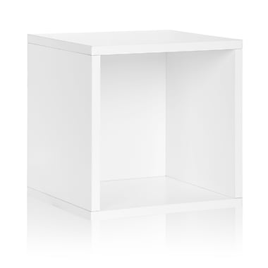Way Basics Eco-Friendly Stackable Large Storage Cube, White - Lifetime Warranty