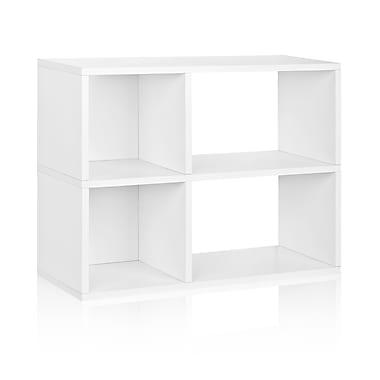 Way Basics Chelsea 32.1'' 2-Shelf Bookcase, White (WB-2SWRC-WE)