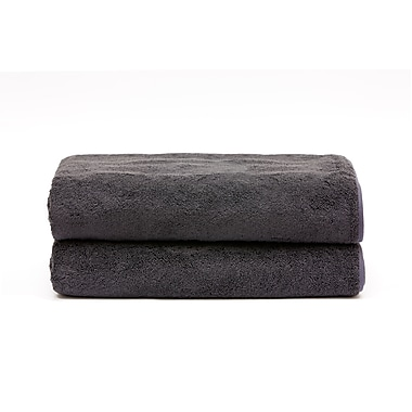Ensemble de serviettes de bain pour le spa, anthracite
