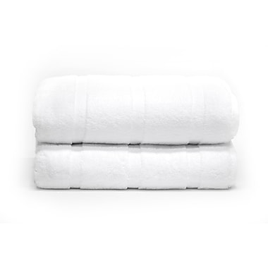 Plush Bath Sheets, White