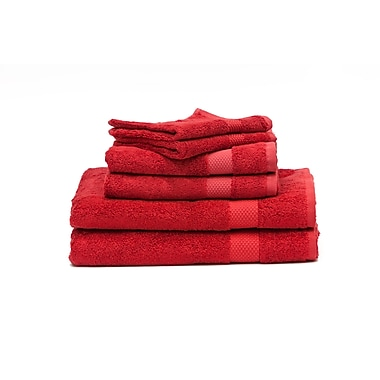Rayon from Bamboo Towels Set, Red