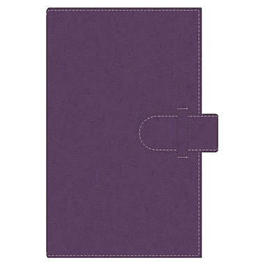 Pierre Belvedere A5 Refillable Notebook, Plum