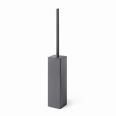 WS Bath Collections Complements Skoati Free Standing Toilet Brush and Holder; Dark Grey