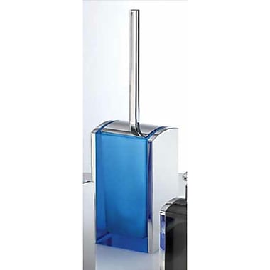 Gedy by Nameeks Aedis Free Standing Toilet Brush and Holder; Transparent/Chrome