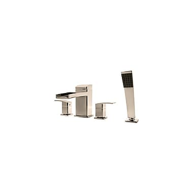 Pfister Kenzo Roman Tub and Shower Faucet Trim w/ Lever Handles; Brushed Nickel