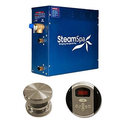 Steam Spa SteamSpa Oasis 6 KW QuickStart Steam Bath Generator Package; Brushed Nickel