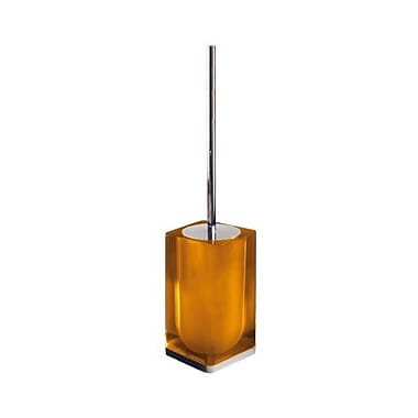 Gedy by Nameeks Iceberg Free Standing Toilet Brush and Holder; Orange