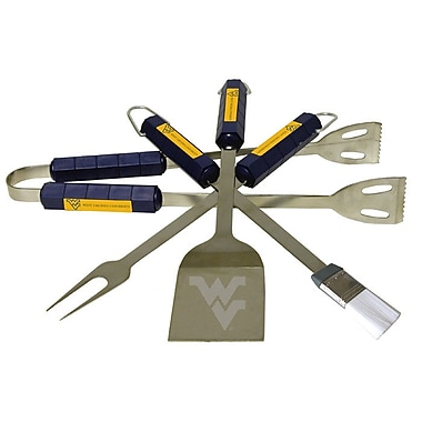 BSI Products NCAA 4 Piece BBQ Grill Tool Set; West Virginia