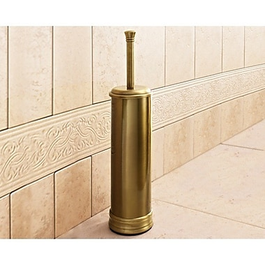 Gedy by Nameeks Romance Free Standing Toilet Brush and Holder; Bronze