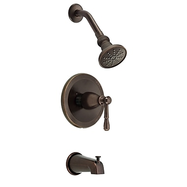 Danze Eastham Diverter Tub and Shower Faucet Trim; Tumbled Bronze