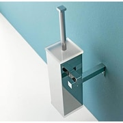 Toscanaluce by Nameeks Wall MountedToilet Brush and Holder; Light Blue
