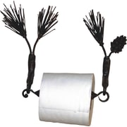 Quiescence Pine Wall Mounted Toilet Paper Holder; Black