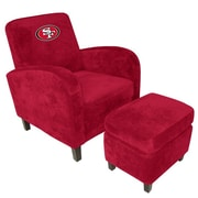 Imperial NFL Den Armchair and Ottoman; San Francisco 49ers