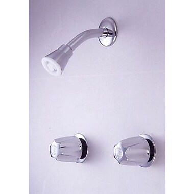 Elements of Design Twin HDL 8'' Center Tub/Shower Valve W/O Spout CP; Polished Chrome