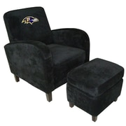 Imperial NFL Den Armchair and Ottoman; Baltimore Ravens