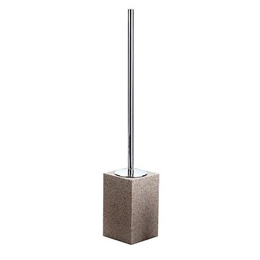 Gedy by Nameeks Bali Free Standing Toilet Brush and Holder; Natural Sand