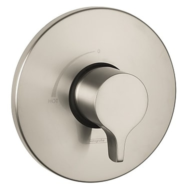 Hansgrohe S/E Pressure Balance Faucet Trim w/ Lever Handle; Brushed Nickel