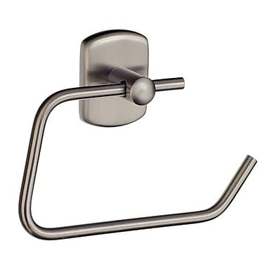 Smedbo Cabin Wall Mounted European Style Toilet Roll Holder; Brushed Nickel