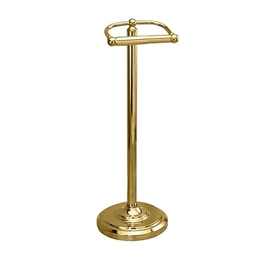 Gatco Bath Accessories Free Standing Toilet Paper Holder; Polished Brass