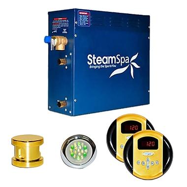 Steam Spa SteamSpa Royal 6 KW QuickStart Steam Bath Generator Package; Gold
