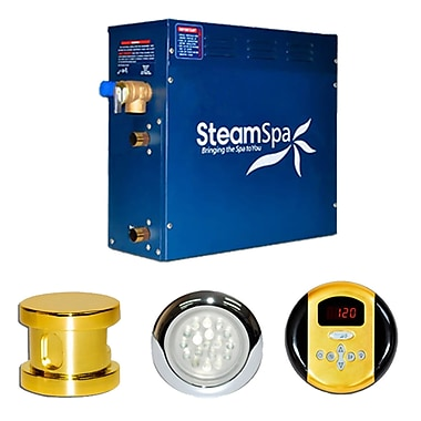 Steam Spa SteamSpa Indulgence 7.5 KW QuickStart Steam Bath Generator Package; Gold