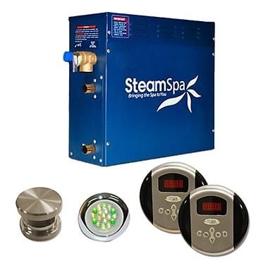 Steam Spa SteamSpa Royal 6 KW QuickStart Steam Bath Generator Package; Brushed Nickel