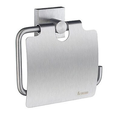 Smedbo House Wall Mounted Toilet Paper Holder; Brushed Chrome