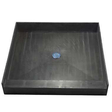 Tile Redi Single Curb Square Shower Base; 42''W x 42''D