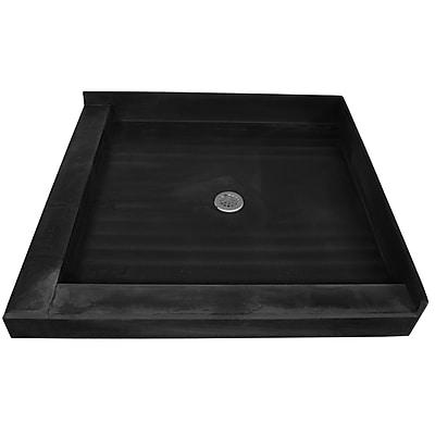 Tile Redi Muli Curb Shower Pan Double Threshold Shower Base; 6.5''H x 72''W x 37''D