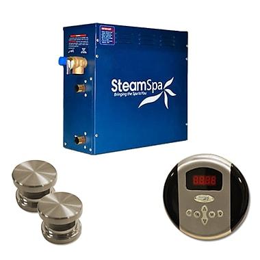 Steam Spa SteamSpa Oasis 10.5 KW QuickStart Steam Bath Generator Package; Brushed Nickel
